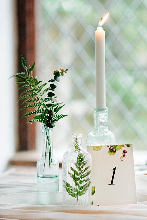 decoração clean casamento minimalista