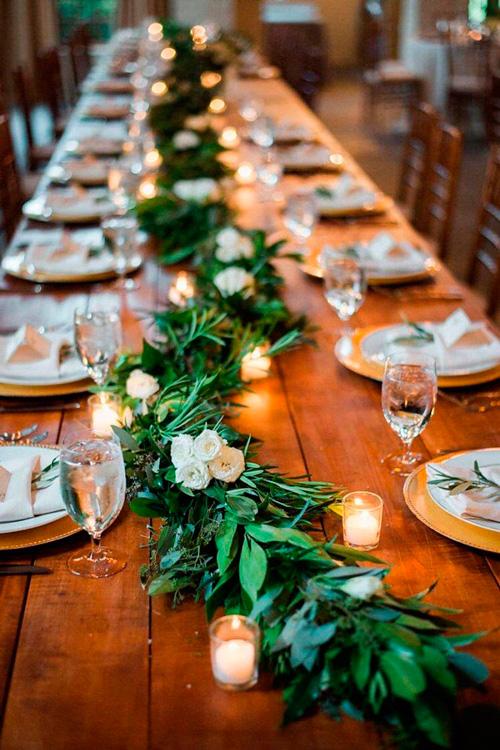 decoração casamento minimalista