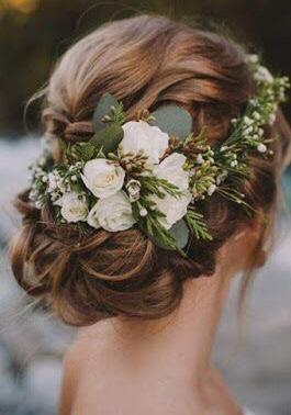 flores acessório para noivas