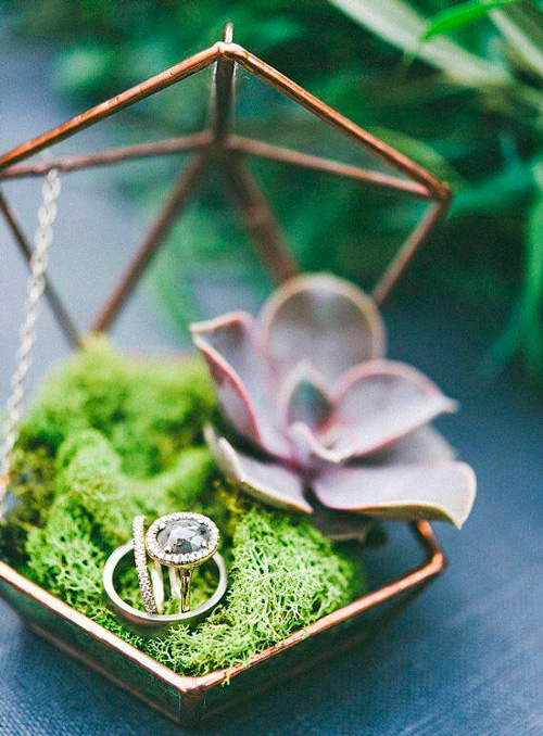 porta alianças para casamento estilo moderno
