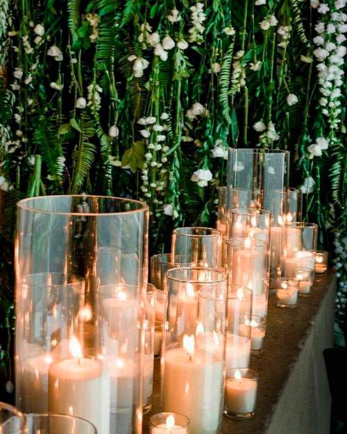velas aromaticas decoração casamento