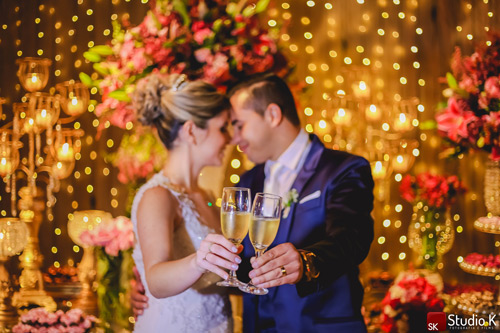 brinde dos noivos