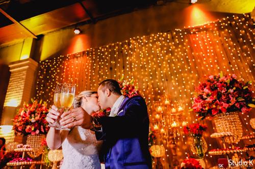 brinde noivos casamento estilo romântico