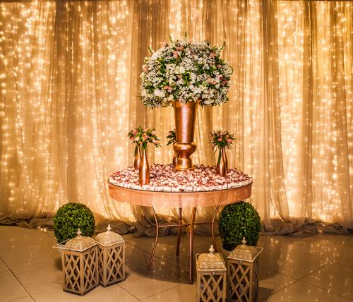 decoração de casamento estilo romântico