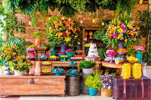 decoração casamento estilo tropical