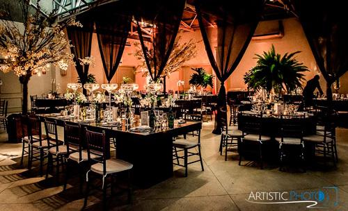 casamento com decoração com velas