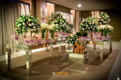 casamento estilo romântico mesa de doces