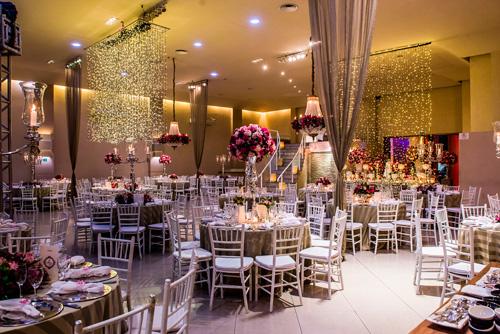 decoração luzinhas aereas casamento
