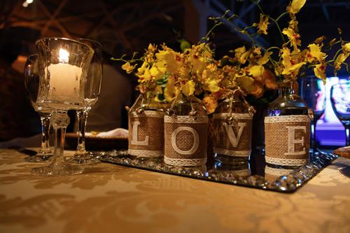 decoração com velas casamento estilo romântico
