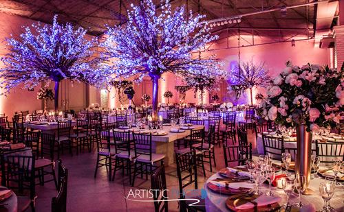 flores decoração casamento estilo romântico