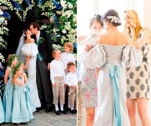 vestido de casamento boho, flores tendência 2020